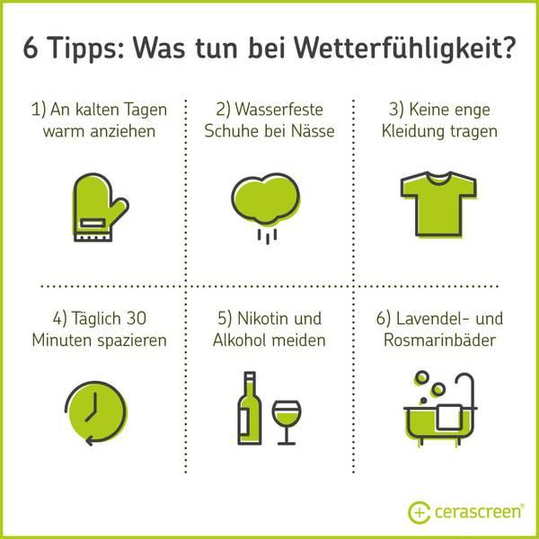 6 Tipps - Was tun bei Wetterfühligkeit?