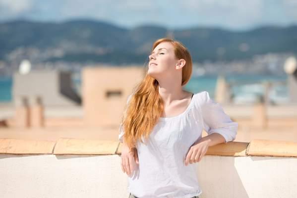 Vitamin D tanken in der Sonne