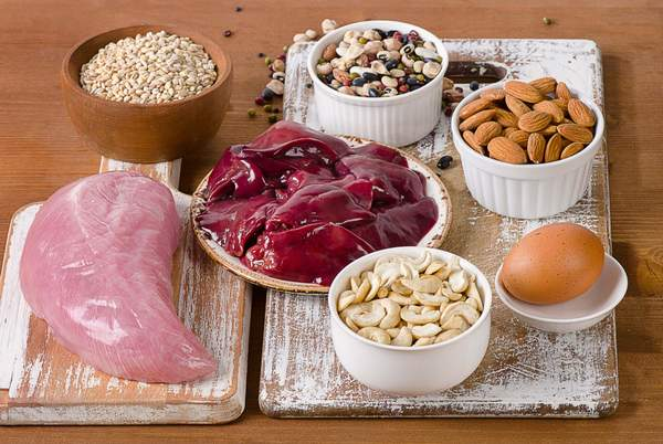 Fleisch, Leber, Eier, Nüsse - selenreiche Lebensmittel