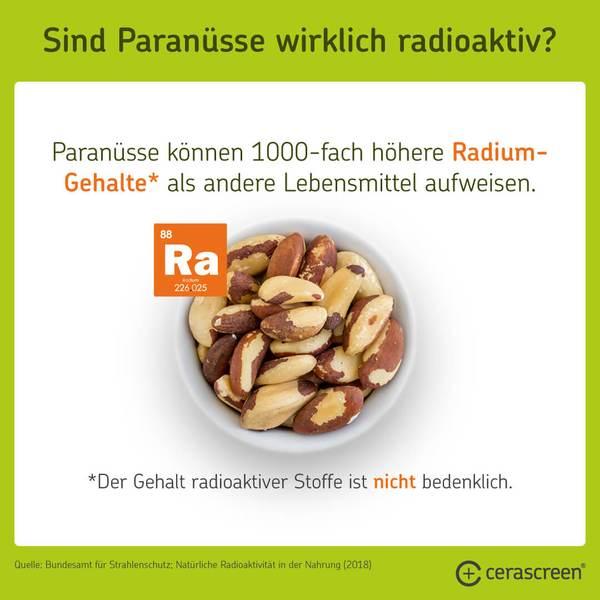 Sind Paranüsse radioaktiv?