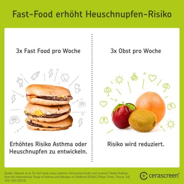 Fast Food erhöht Allergierisiko